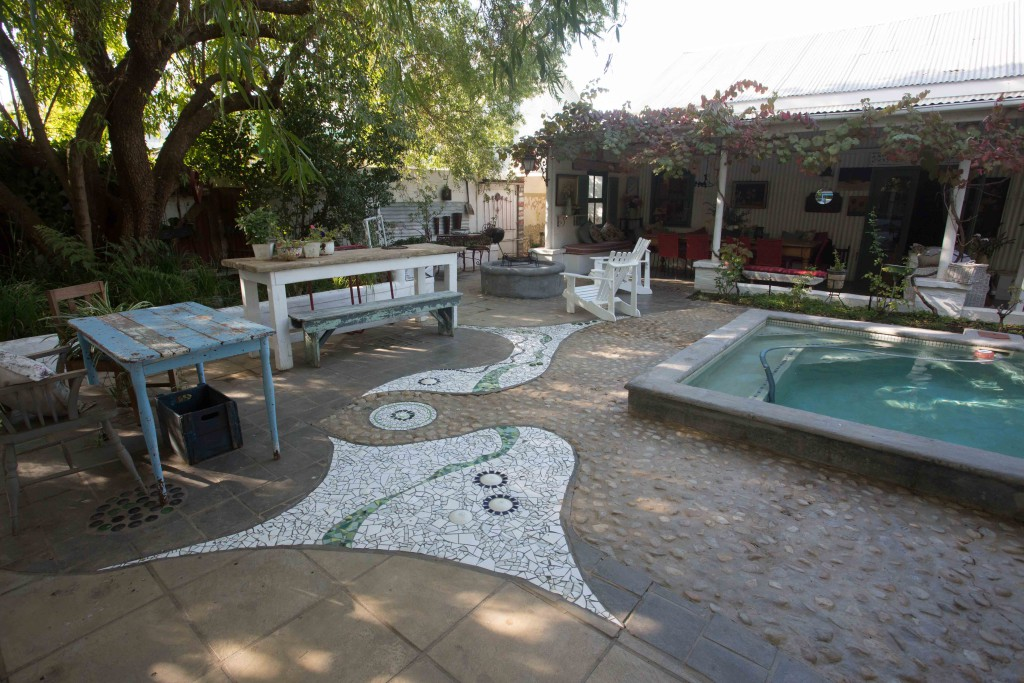 Outdoor pool area - Tin House